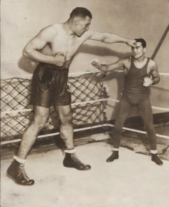 Primo+Carnera+and+Fidel+LaBarbara+Flyweight+Champ+c.1929