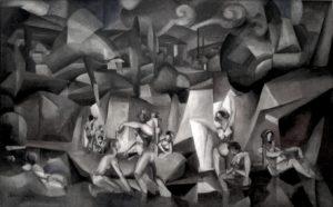 Albert_Gleizes,_1912,_Les_Baigneuses,_oil_on_canvas,_105_x_171_cm,_Paris,_Musée_d'Art_Moderne_de_la_Ville_de_Paris_(black_and_white)
