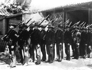 Marines in relief party, Peiping, China.  1900.  Anna Graham Woodward.  (Marine Corps) Exact Date Shot Unknown NARA FILE #:  127-N-515634 WAR & CONFLICT BOOK #:  327