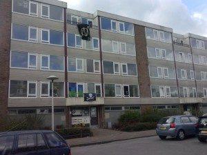 20160416_Utrecht_Eight_apartment_flats_squatted_on_Kanaleneiland-300x225